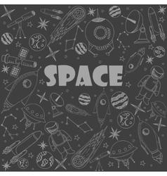 Space line art design vector