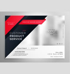 Stylish red modern brochure design template vector