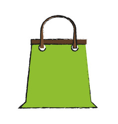 Supermarket shopping bag vector