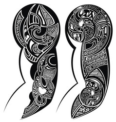 tattoo hand vector image