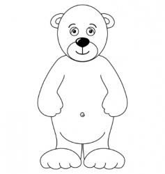 teddy bear isolated contours vector image