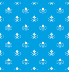 timer pattern seamless blue vector image