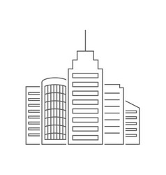 Urban megapolis outline on white vector