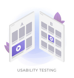 Usability testing flat icon concept vector
