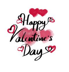 valentine day typography vector image