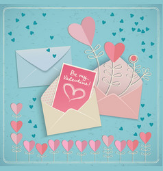 Valentines envelopes set vector