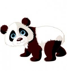 Walking panda vector