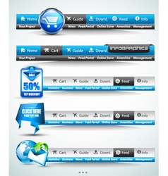 Web Button Bars vector image