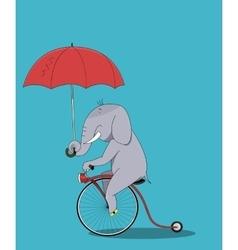 Cute elephant cartoon sitting vector image vector image