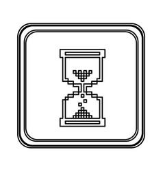 figure emblem mouse hourglass cursor icon vector image
