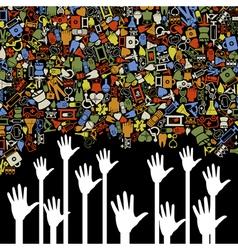 Hand medicine vector image vector image