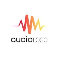 Music Logo concept sound wave studio music DJ vector image
