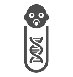 Baby genetic analysis flat icon vector