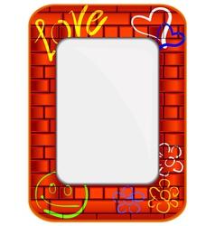 brick frame vector image vector image