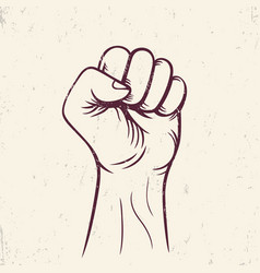 fist held high revolt protest sign vector image vector image