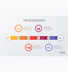 infographic timeline template business concept vector image vector image