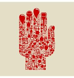 Medicine Hand vector image