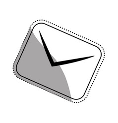 message envelope cartoon draw vector image