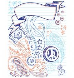 notebook doodles vector image