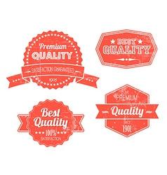 Old red retro vintage grunge labels vector image vector image