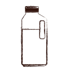 orange juice bottle in brown blurred silhouette vector image vector image