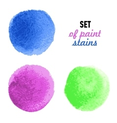 Set of colored banners with water-color stains vector image