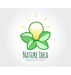 Abstract nature logo template for branding vector image vector image