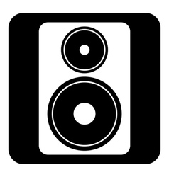 Audio speaker button vector image vector image