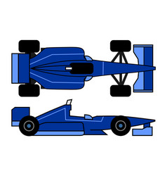 blue racing car vector image vector image