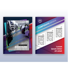 multipurpose modern corporate business flyer vector image vector image