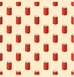 seamless pattern with soda in a tin vector image vector image