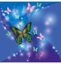Bright glowing abstract background blue violet vector image