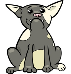 french bulldog cartoon vector image vector image