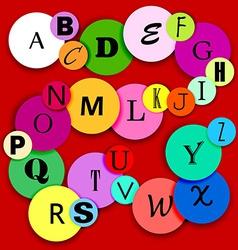 Fun alphabat on multicolor circles-2 vector