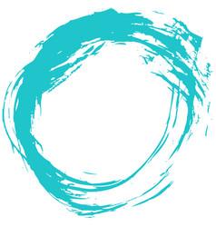 Green brush stroke circular shape vector