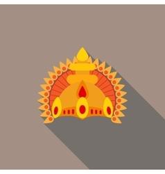 Hindu deities crown flat vector image