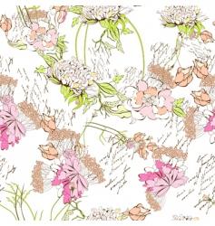 spring seamless wallpaper vector image vector image