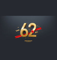 62nd year anniversary background vector