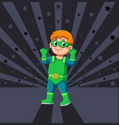A power superhero boy vector