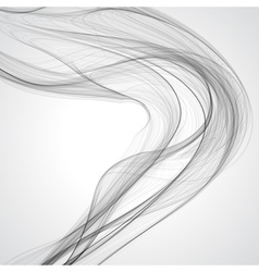 Abstract gray wavy background vector image