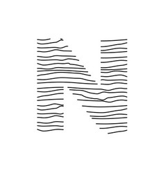 Abstract line initial n vector