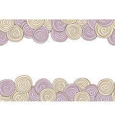 Abstract spiral seamless background with frame vector image