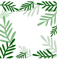Background with plants vector
