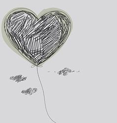 Balloon - heart vector