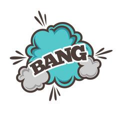 Bang bubble sound blast cloud vector