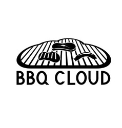 Bbq cloud concept design template vector