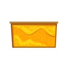 Bee honeycombs in cartoon style vector