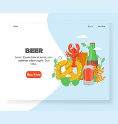 beer festival website landing page design vector image