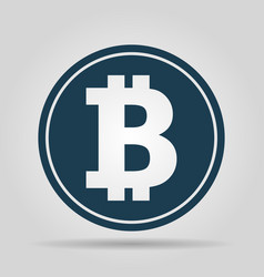 bitcoin icon coin logo crypto currency symbol vector image