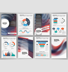 brochure template and infographics vector image